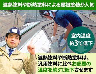 遮熱や断熱塗料による屋根塗装が人気です