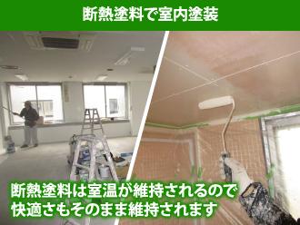 断熱塗料で室内塗装