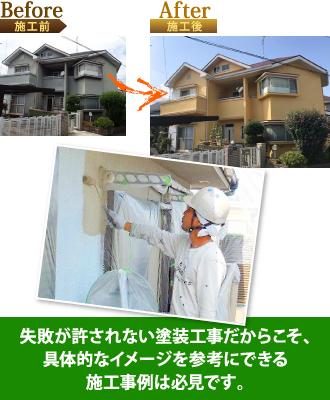 失敗が許されない塗装工事だからこそ具体的なイメージを参考にできる施工事例は必見です