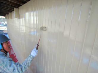 トタン外壁上塗り
