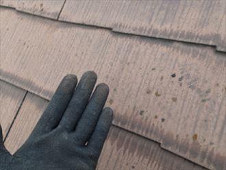 チョーキングが出ているスレート屋根