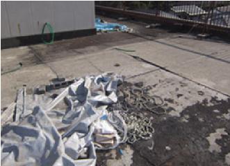 ブロックとロープの撤去