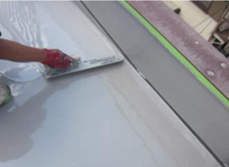 2層目のウレタン防水の塗布