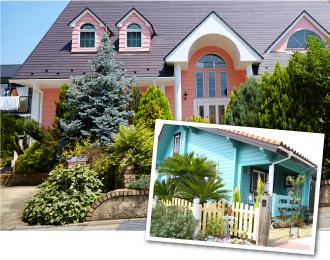 外壁塗装で使いにくい色のピンクやブラックの場合、その色味が少しでも入っていれば風水効果が発揮されます