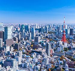 上空からの東京の風景