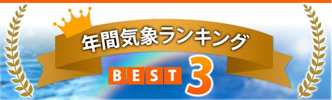 年間気象ランキング BEST3